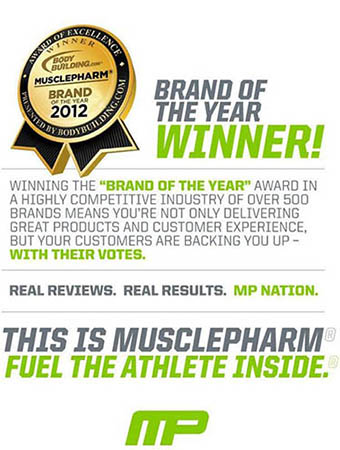 musclepharm cla supplement award