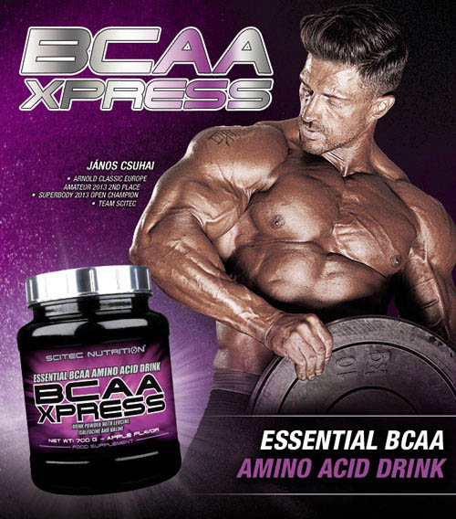 scitec bcaa xpress athlete