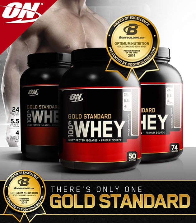 on whey gold standart banner